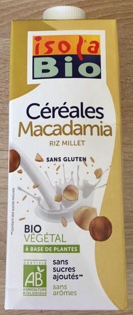 Boisson végétal céréale macadamia riz millet - Produit