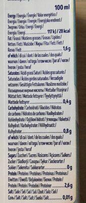 SOY BARISTA - Valori nutrizionali - fr