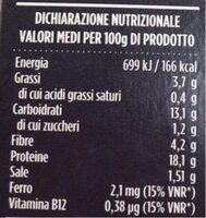 Polpette 100% vegetariane - Informazioni nutrizionali - it