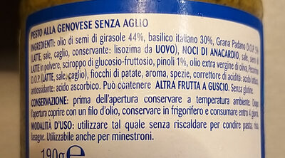 Pesto alla genovese senza aglio - Ingredients - it