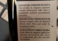 Franci BIO - huile d'olive vierge extra - Ingrédients