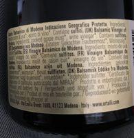 Ortalli Aceto Balsamico di Modena IGP - Ingredients