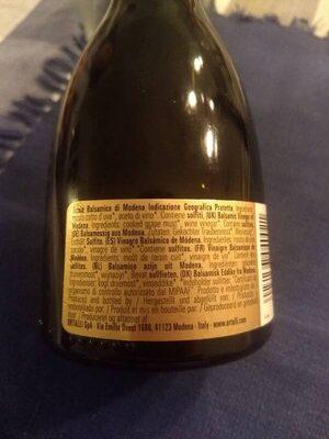 Ortalli Aceto Balsamico di Modena IGP - Nutrition facts