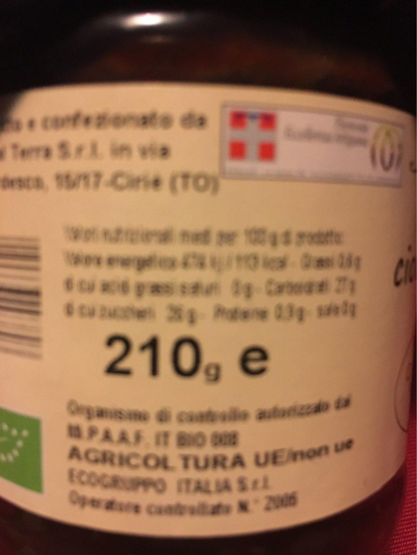 Cioccofragola - Voedingswaarden
