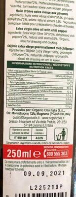 Condimento al Peperoncino - Voedingswaarden