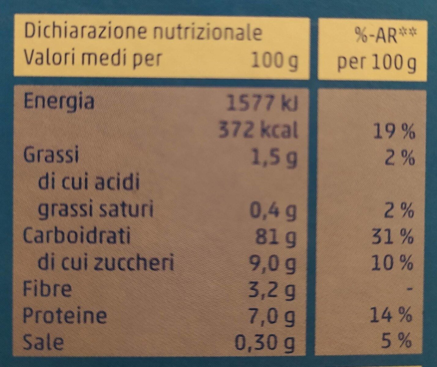 Flakes riso e frumento - Nutrition facts - it