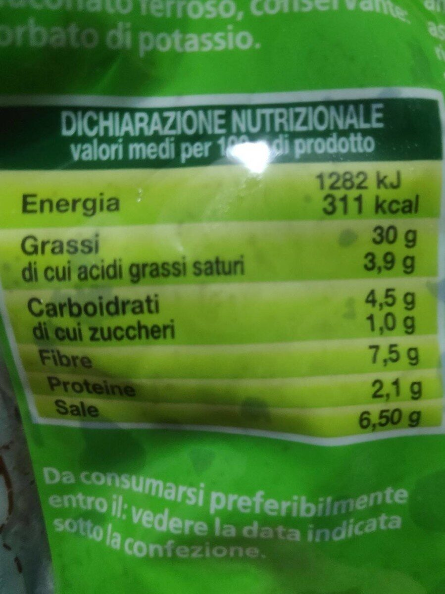 Olive nere alla greca - Nutrition facts - it