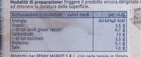 Chele di surimi al sapore di granchio congelate - Voedingswaarden - it