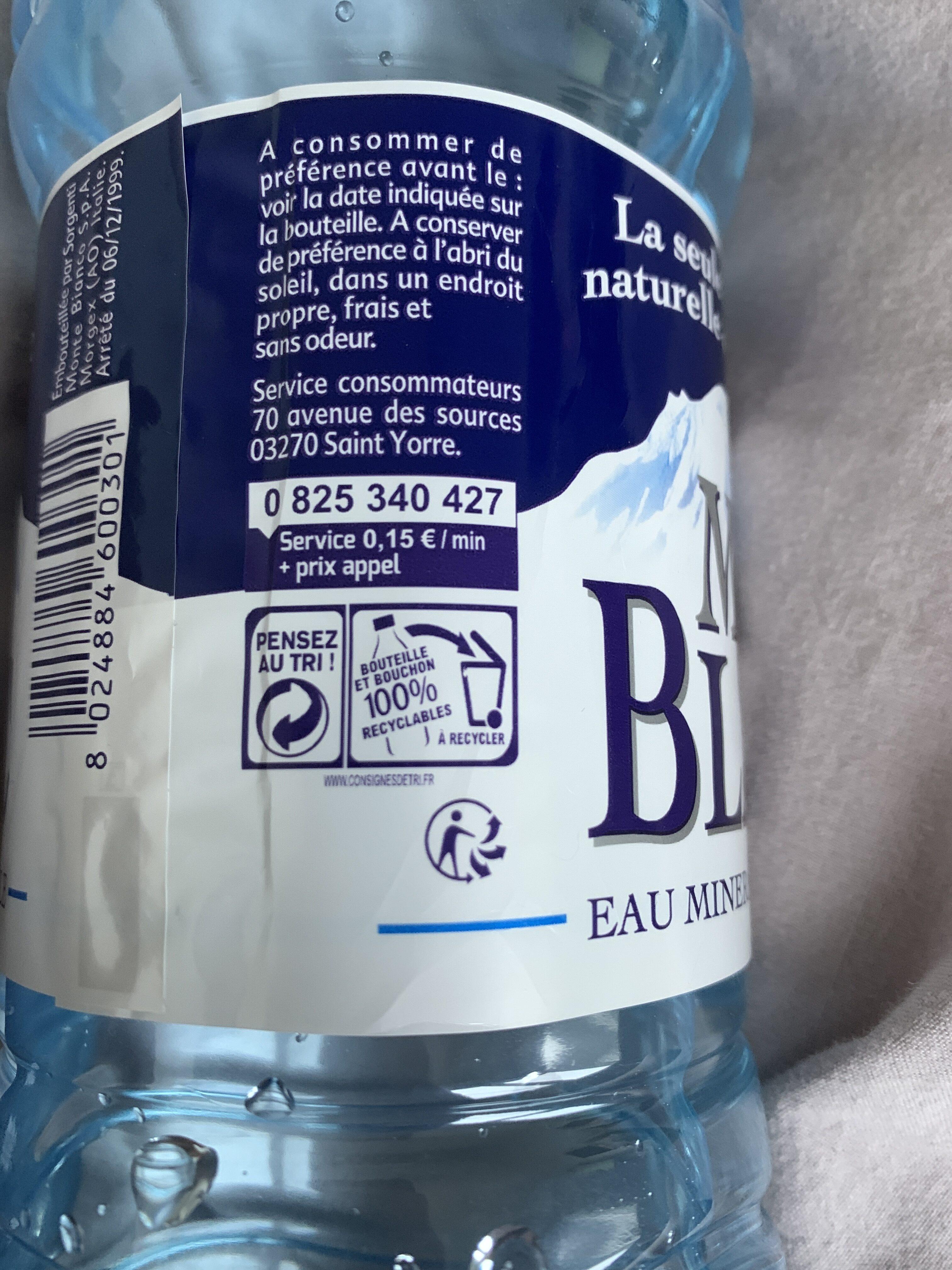 Eau Mont Blanc - Istruzioni per il riciclaggio e/o informazioni sull'imballaggio - fr