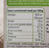 tofu al naturale - Nutrition facts - it