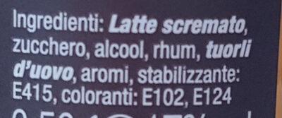 Bombardino dal Trentino - Ingredients - it