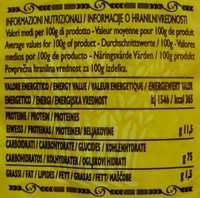 Coquillettes 166 - Informations nutritionnelles - fr