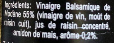 Vinaigre balsamique de modene aromatisé a la truffe - Ingredients
