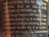 Spolverata di Tartufo - Informazioni nutrizionali