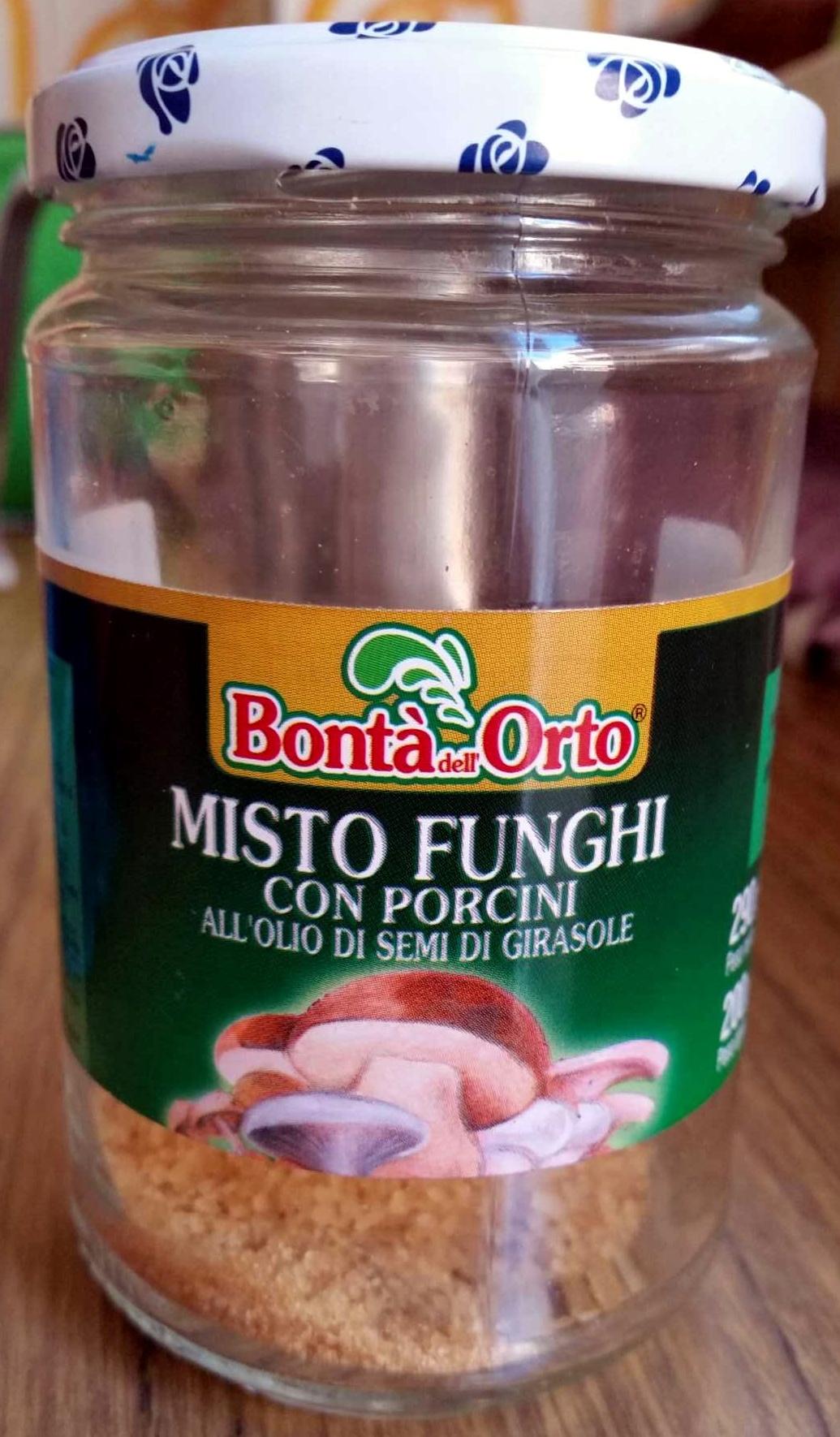 Bonta' dell'Orto Misto funghi con porcini all'olio di semi di girasole - Prodotto