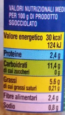 Bonta' dell'Orto Misto funghi con porcini all'olio di semi di girasole - Nutrition facts