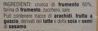 bastoncini di crusca - Ingredients - it