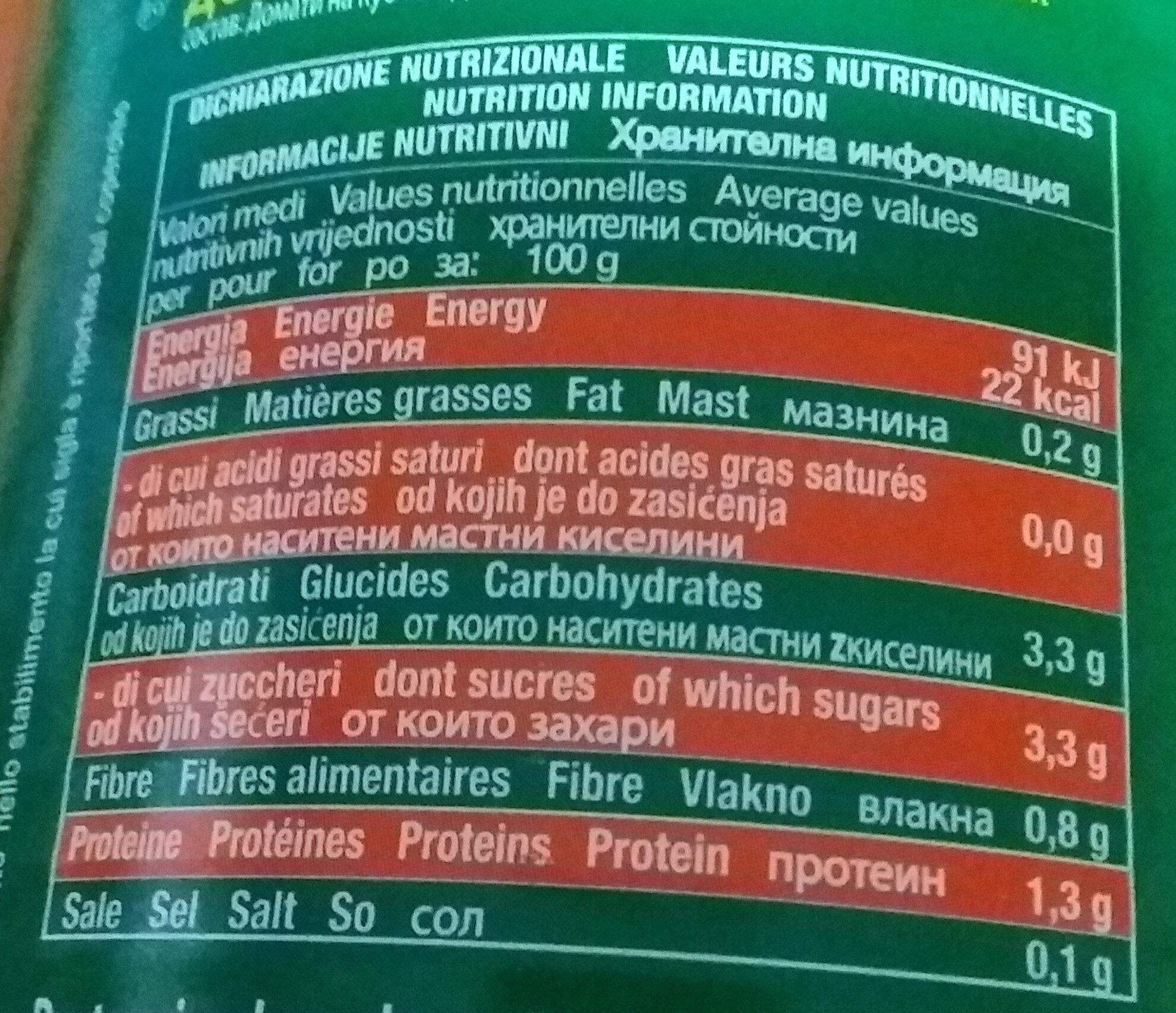 VESU polpa di pomodoro - Ingredients
