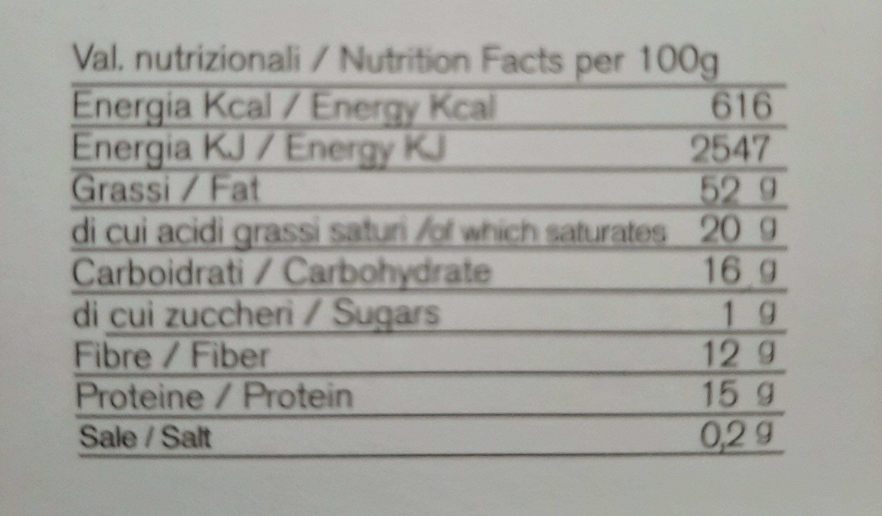 Fave di cacao - Nutrition facts - it
