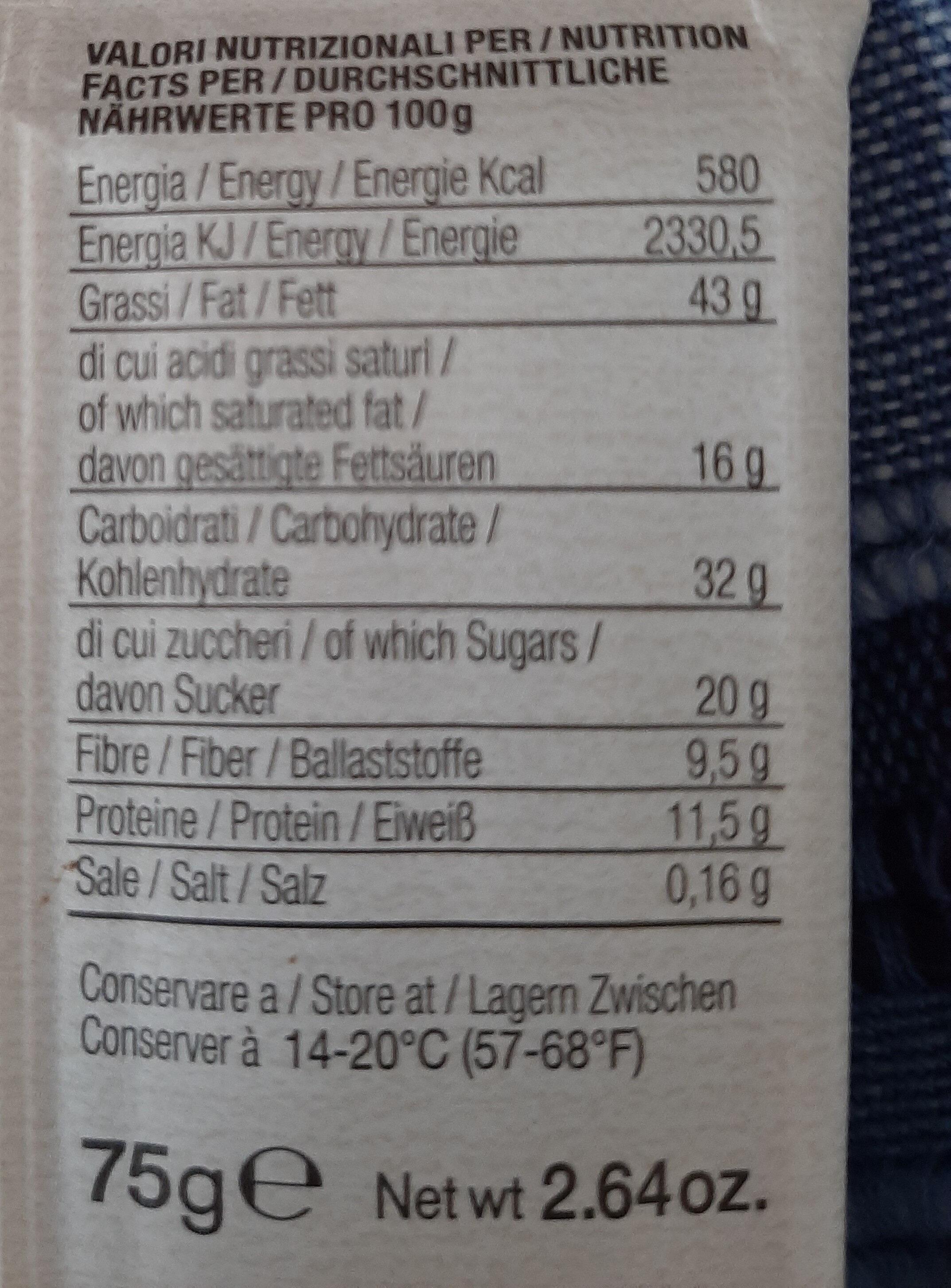 Cioccolato fondente 80% - Nutrition facts - it