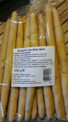 Grissotti con Olive Nere - Prodotto