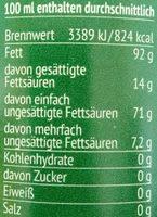 Oliven-Öl aus Italien - Informations nutritionnelles - de