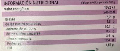 Hamburguesas vegetales con berenjenas - Información nutricional - es