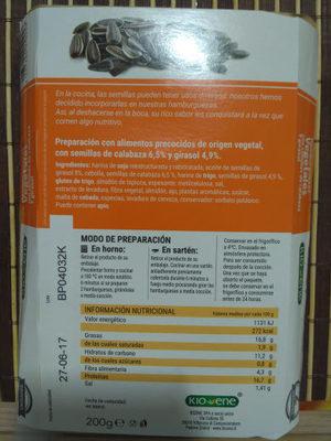 Hamburguesas semillas - Ingredients - en