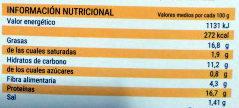 Hamburguesas Vegetales con semillas de calabaza y girasol - Informació nutricional
