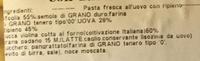 Cannellacci con zucca fresca - Inhaltsstoffe