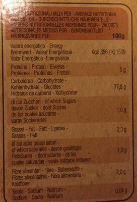 Piaceri Medit Linguine - Informations nutritionnelles