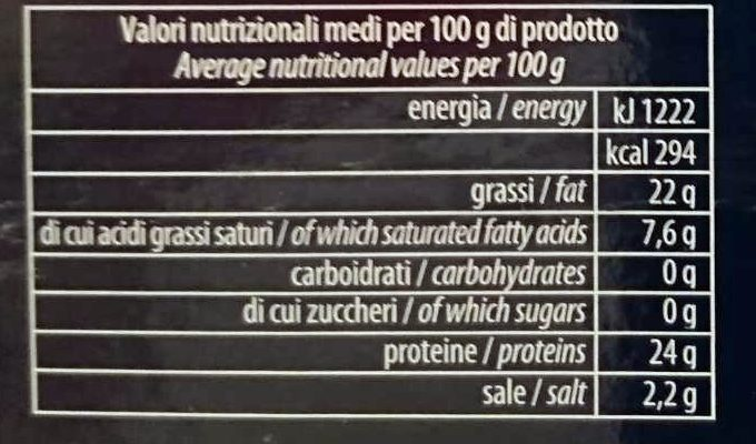 Cotechino modena - Informations nutritionnelles