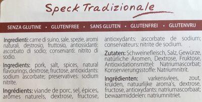 Jambon Speck - Ingrediënten