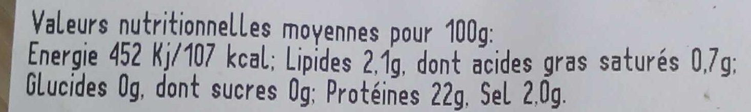 Prosciutto Cotto Rustico - Informations nutritionnelles - fr