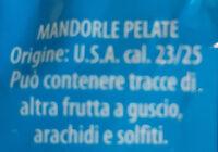 Mandorle pelate - Ingrédients - it