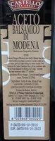 Balsamic Vinegar of Modena - Ingrédients