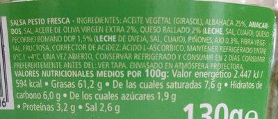 Pesto alla genovese - Ingredientes - es