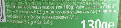 Pesto alla genovese - Información nutricional - es