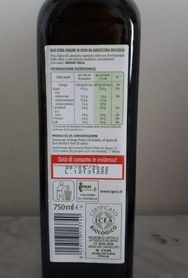 Olio extravergine di oliva - Informations nutritionnelles - it