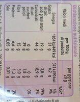 cioccolato fondente extra senza zuccheri - Informations nutritionnelles - it