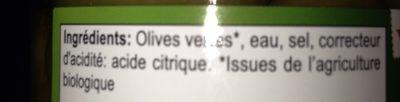 Olives vertes entieres - Ingredients