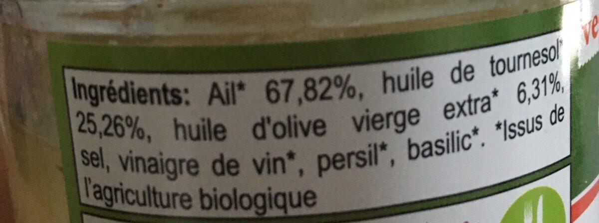 Ail mariné - Ingrédients