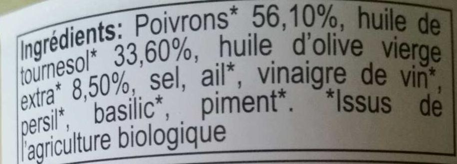 Poivrons grillés à l'huile - Ingredients - fr