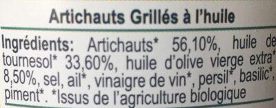 Artichauts grillés - Ingredients