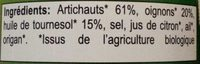 Caviar d'artichauts - Ingrédients - fr