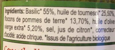 Pesto Vert Vegan - Ingrédients - fr