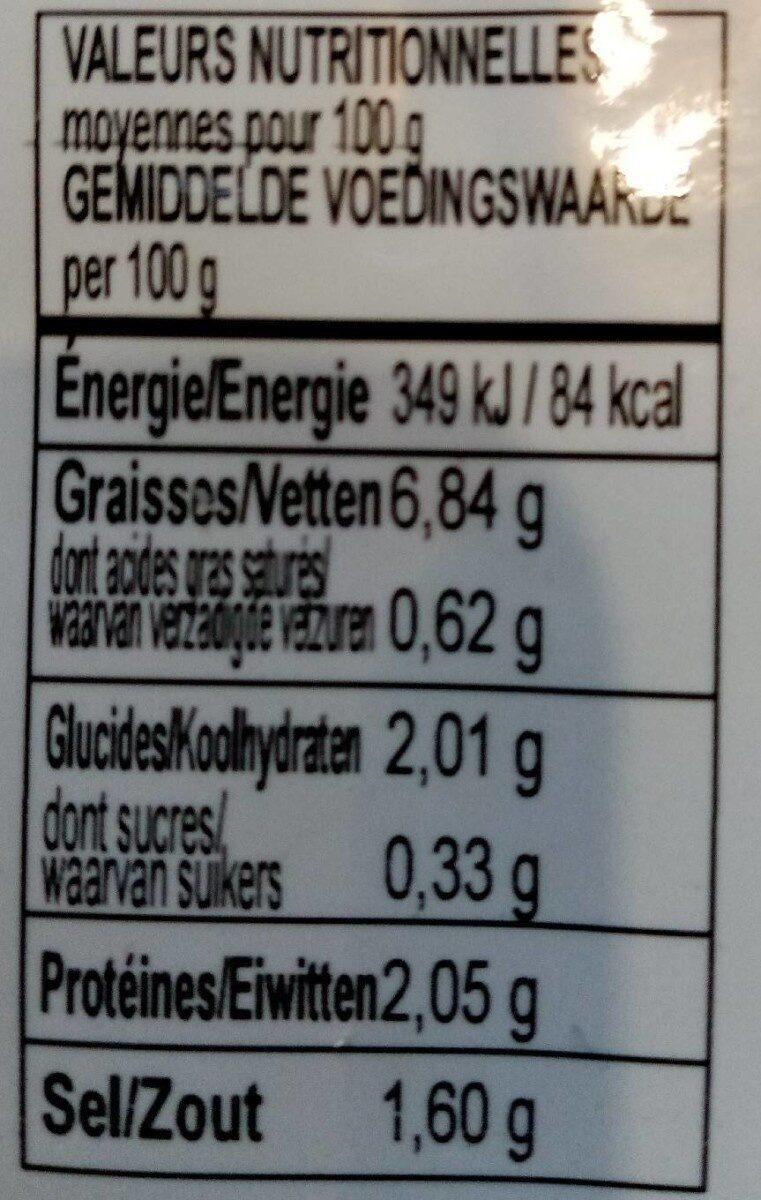 Artichauts grillés aux herbes - Voedingswaarden - fr