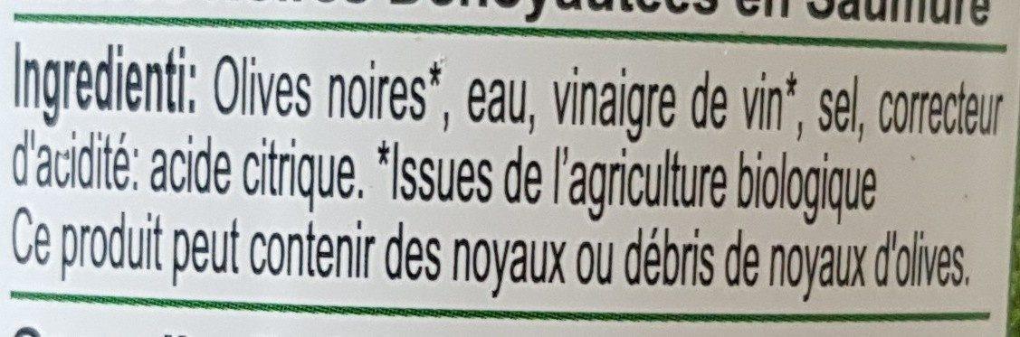 Olives noires dénoyautées - Ingredienti - fr