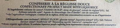 Rouleaux De Reglisse - Ingredients - fr