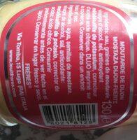 Senape Dijon Forte Louit - Nutrition facts - en